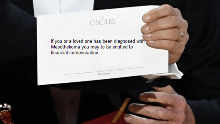 Mesothelioma Ad Copypasta winning best picture at the Oscars