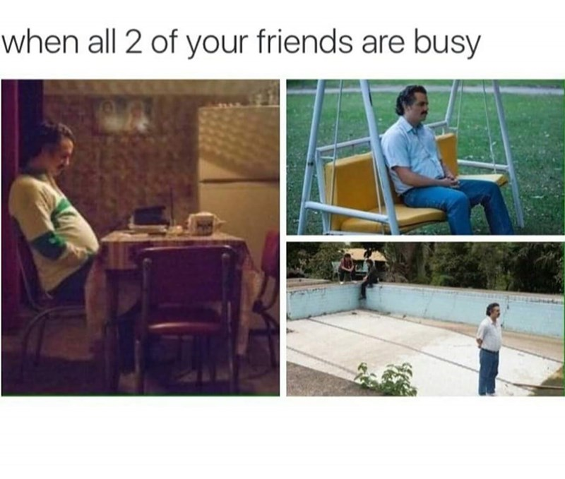 """pictures of Joaquin Phoenix in Her looking lonely captioned """"when all your friends are busy"""""""