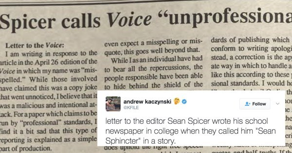 fail image sean spicer letter to the editor