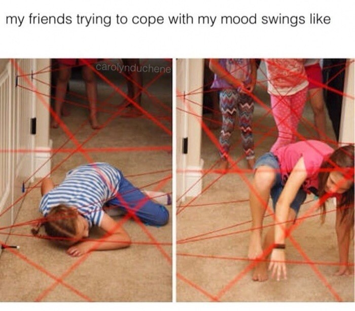 Floor - my friends trying to cope with my mood swings like carolynduchene