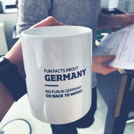 Product - FUN FACTS ABOUT GERMANY OFUN IN GERMANY GO BACK TO WORK