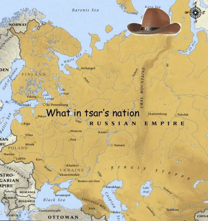 """dank meme about Russia asking """"what in tarnation"""" if it were a Southerner living in the US"""
