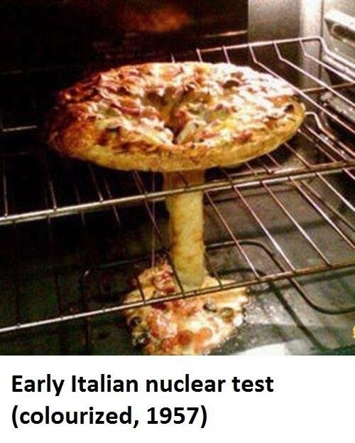 funny fail - Cuisine - Early Italian nuclear test (colourized, 1957)