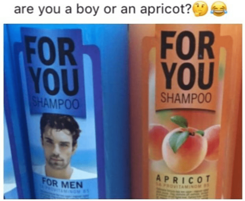 funny fail - Product - are you a boy or an apricot?( FOR YOU FOR YOU SHAMPOO SHAMPOO APRICOT FOR MEN TAMINOM