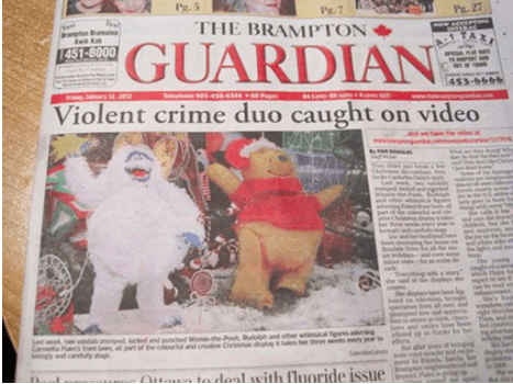 Newspaper - Px.5 Py.7 P. 27 THE BRAMPTON a aale GUARDIAN 1TA 1451-8000 3-6666 01-4544344 Violent crime duo caught on video ePoo Cr h and otherwn prs adng da gd Ca o part of e c lynd caly ig and pnched W d Oaa to daal with fluoride issue