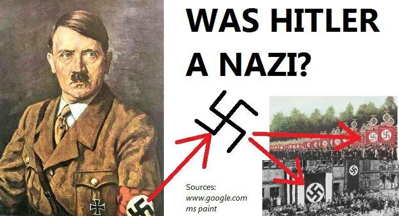 Font - WAS HITLER A NAZI? sa Sources: www.google.com ms paint