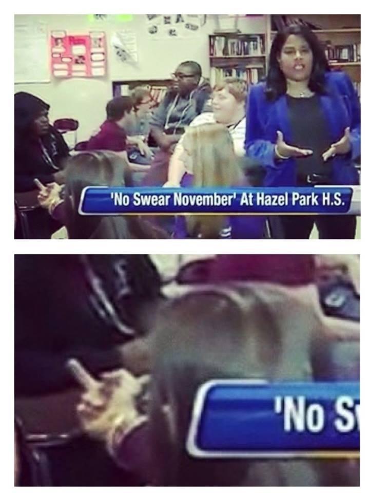 Text - No Swear November At Hazel Park H.S. No S