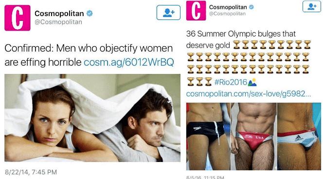 Undergarment - C Cosmopolitan @Cosmopolitan Cosmopolitan @Cosmopolitan 36 Summer Olympic bulges that deserve gold L! Confirmed: Men who objectify women are effing horrible cosm.ag/6012WrBQ 2Z #Rio2016, cosmopolitan.com/sex-love/g5982... da USA 8/22/14, 7:45 PM 8/5/16 11:15 PM