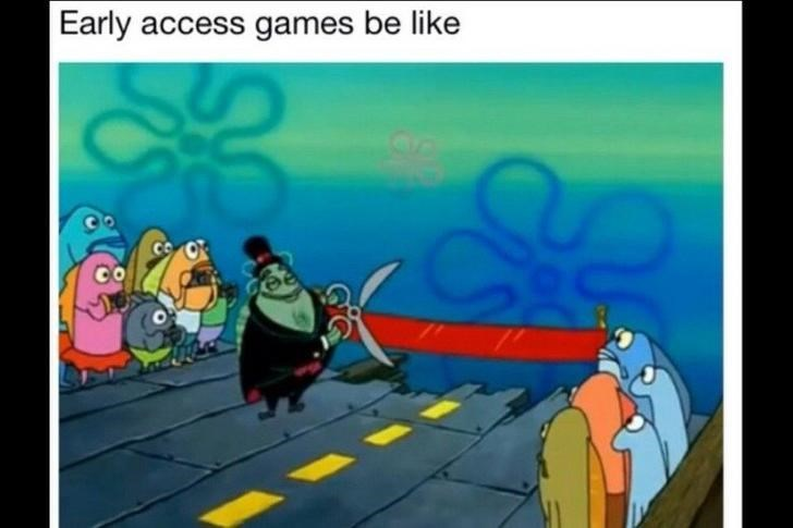 happy meme about getting early access to games