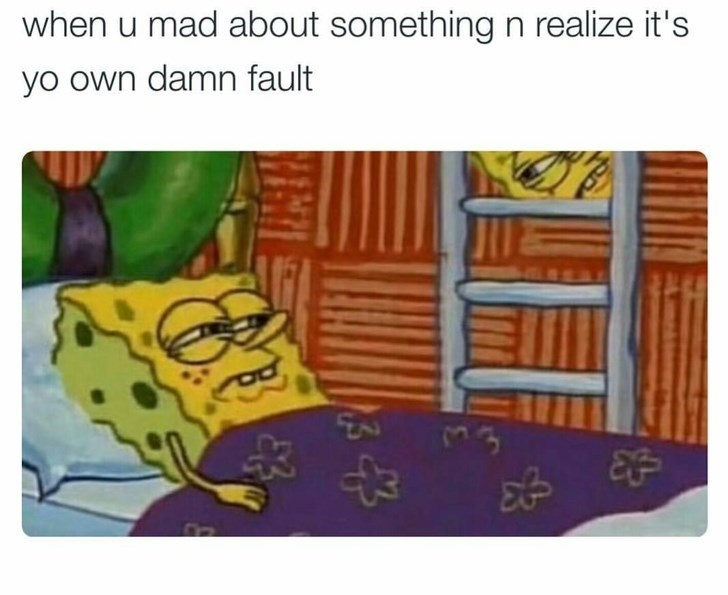 happy meme of spongebob and realizing you were wrong