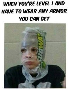 happy meme of a person wearing a subway bag as a mask