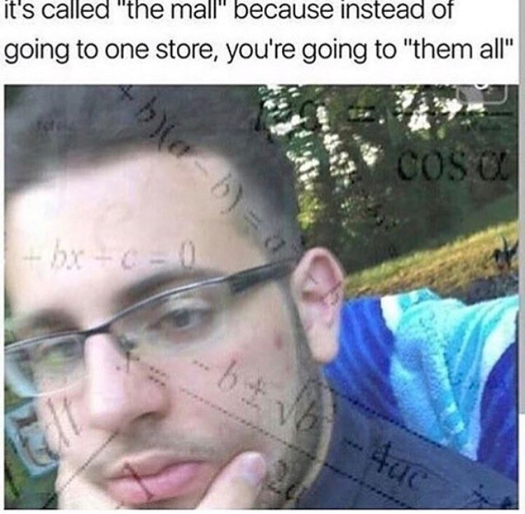 happy meme about the story behind the word mall