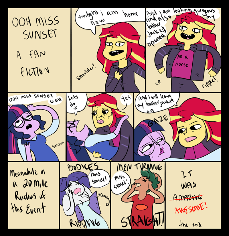equestria girls twilight sparkle timber spruce rarity ponify comic sunset shimmer - 9015689216