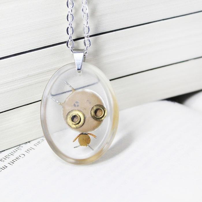 robot necklaces - Pendant - eau lui Gauti m sambată