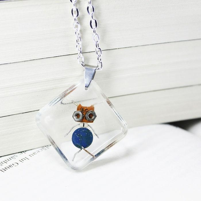 robot necklaces - Pendant - Aceau lui Gauti qu