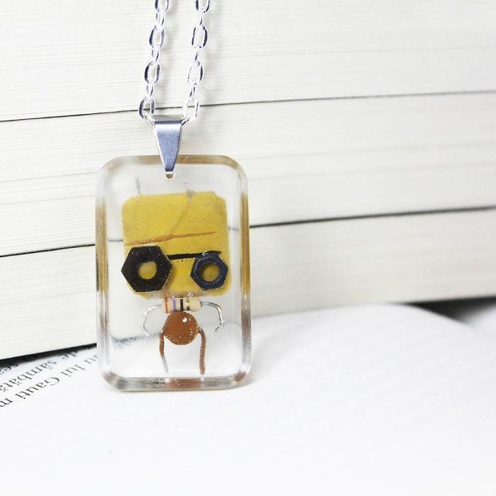 robot necklaces - Pendant - u Jui Gauti m sambat