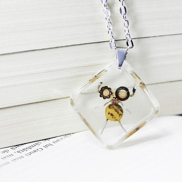 robot necklaces - Pendant - sambata, mai ara de