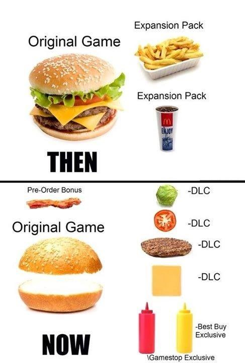Fast food - Expansion Pack Original Game Expansion Pack ENJOY THEN -DLC Pre-Order Bonus -DLC Original Game -DLC DLC Best Buy Exclusive NOW IGamestop Exclusive