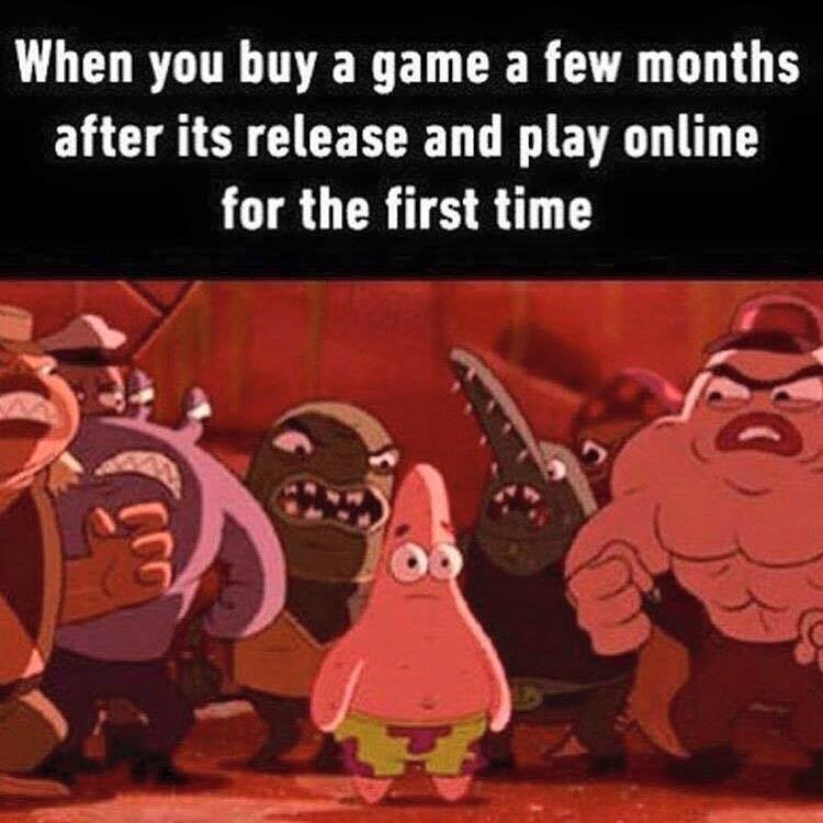 Cartoon - When you buy a game a few months after its release and play online for the first time