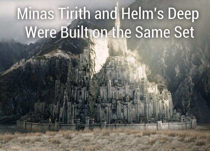 Nature - Minas Tirith and Helm's Deep Were Built on the Same Set
