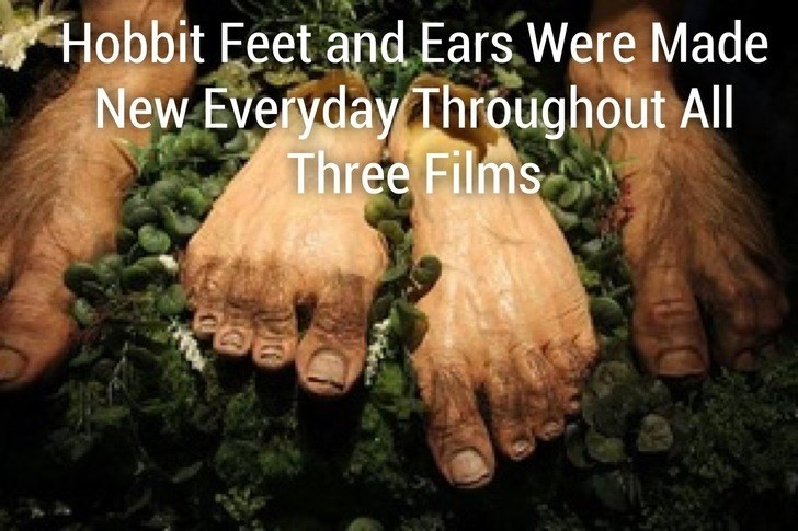 Hand - Hobbit Feet and Ears Were Made New Everyday Throughout All Three Films