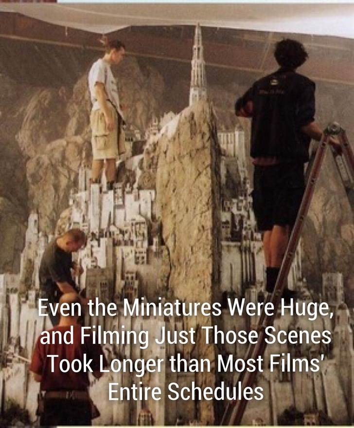 World - Even the Miniatures Were Huge, and Filming Just Those Scenes Took Longer than Most Films Entire Schedules