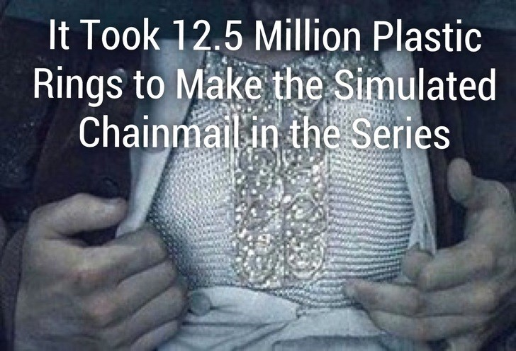 Text - It Took 12.5 Million Plastic Rings to Make the Simulated Chainmailin the Series