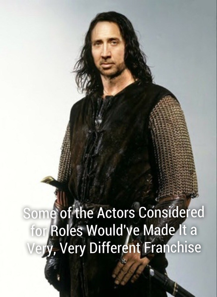 Clothing - Some of the Actors Considered for Roles Would'ye Made It a Very, Very Different Franchise