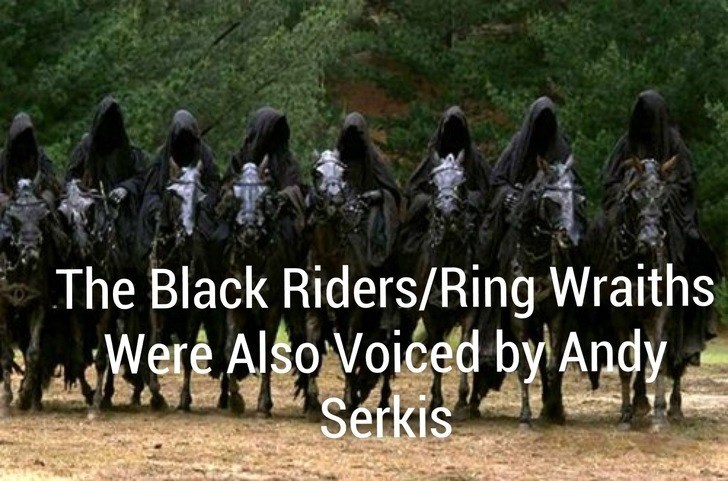 People - The Black Riders/Ring Wraiths Were Also Voiced by Andy Serkis
