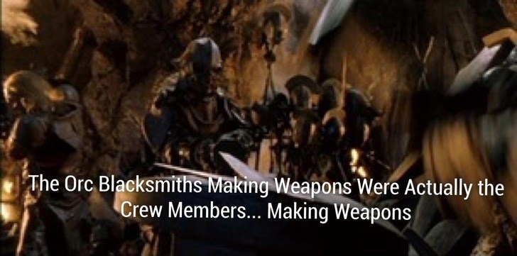Adaptation - The Orc Blacksmiths Making Weapons Were Actually the Crew Members... Making Weapons