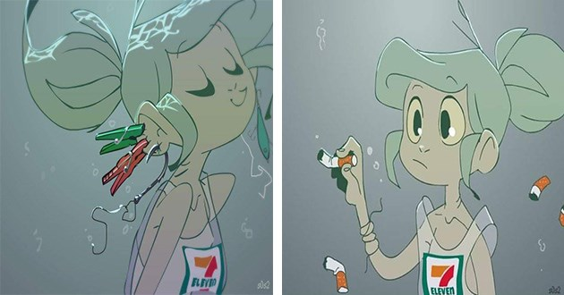 little mermaid trash trashmaid comic