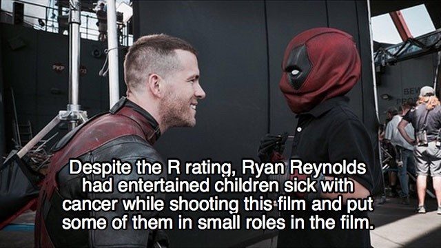 Photo caption - BEV PROP Despite the R rating, Ryan Reynolds had entertained children sick with cancer while shooting this film and put some of them in small roles in the film,