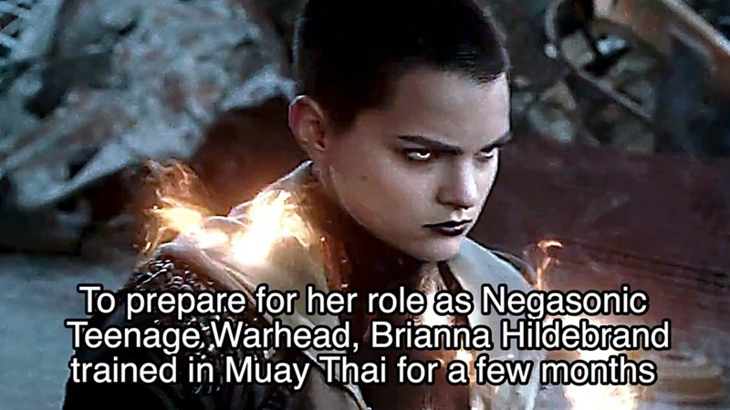 Photo caption - To prepare for her role as Negasonic Teenage Warhead, Brianna Hildebrand trained in Muay Thai for a few months