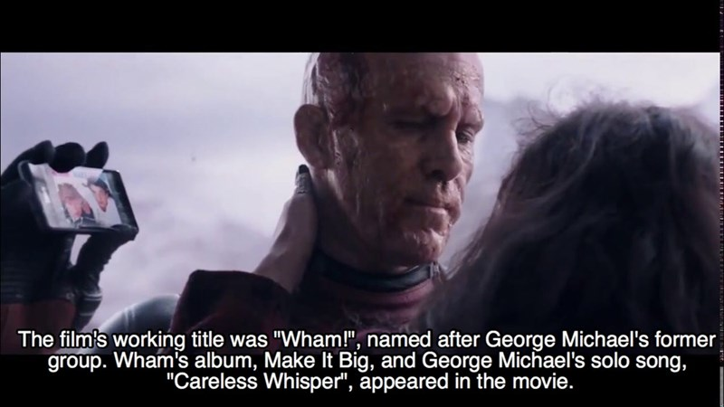"""Movie - The film's working title was """"Wham!"""", named after George Michael's former group. Wham's album, Make It Big, and George Michael's solo song, """"Careless Whisper"""", appeared in the movie."""