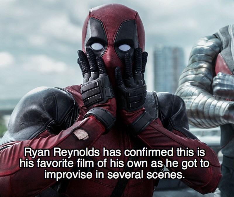 Superhero - Ryan Reynolds has confirmed this is his favorite film of his own as he got to improvise in several scénes.