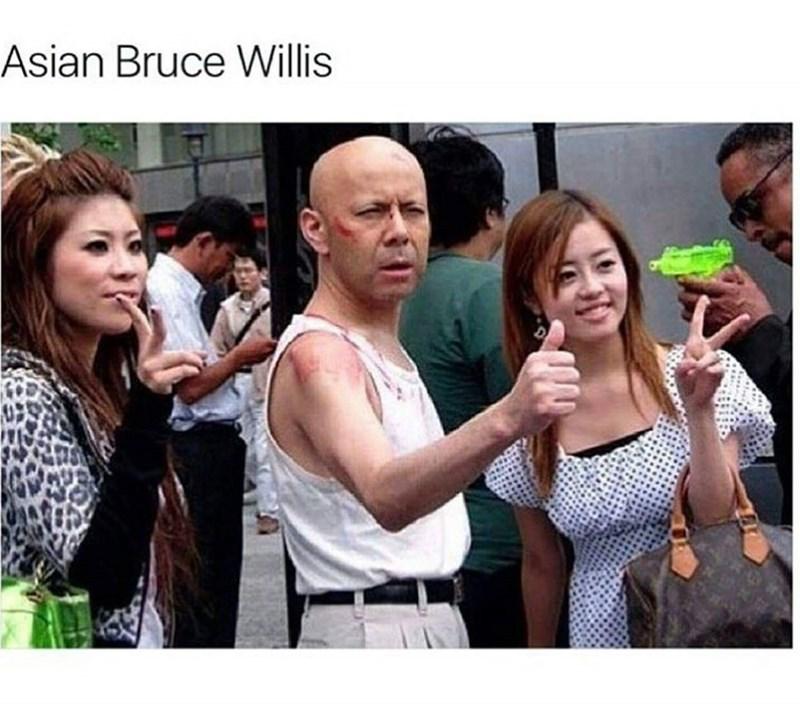 People - Asian Bruce Willis