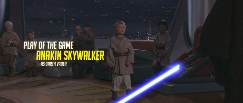 Fictional character - PLAY OF THE GAME ANAKIN SKYWALKER AS DARTH VADER