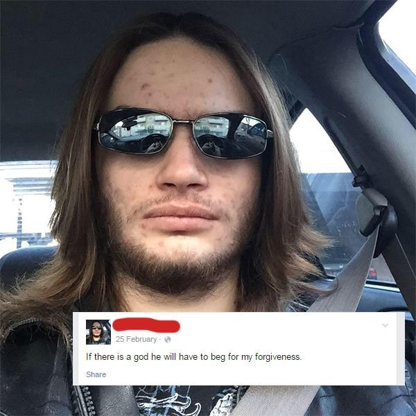 cringey atheist post