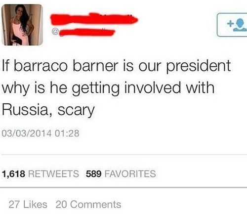 cringey tweet with a spectacular misspelling of Barack Obama's name