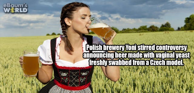 Grass family - eBaum's WERLD Polish brewery Yonistirred controversy announcing beer made with vaginal yeast freshly swabbed fromaCzech model