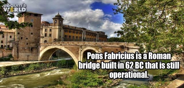 Landmark - eBaum's WERLD Pons Fabricius is a Roman bridge built in 62BC thatis still operational