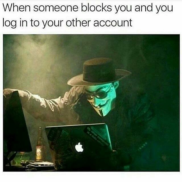 Photography - When someone blocks you and you log in to your other account