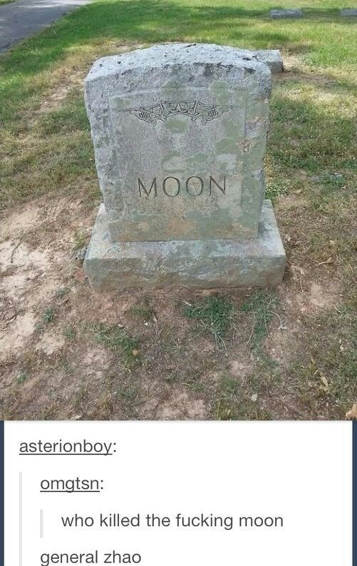 Headstone - MOON asterionboy: omgtsn: who killed the fucking moon general zhao