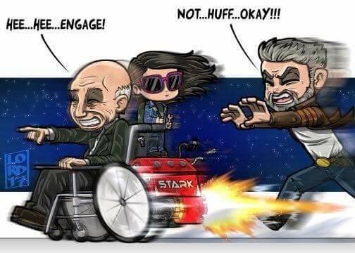 Cartoon - NOT...HUFF..OKAY!! HEE..HE...ENGAGE! STARK 9A