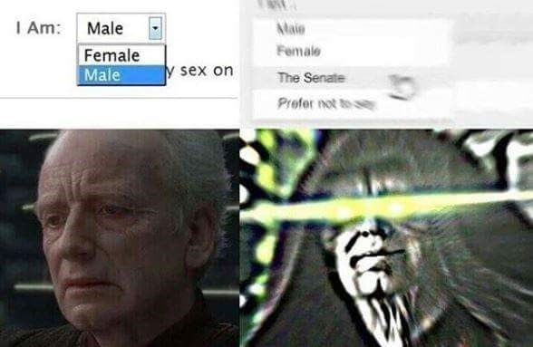 Face - I Am: Male Female Male AMaie Female y sex on The Senate Prefer not to s