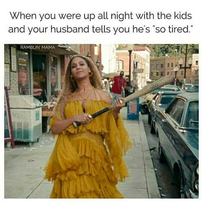Yellow - When you were up all night with the kids and your husband tells you he's so tired. RAMBLIN MAMA