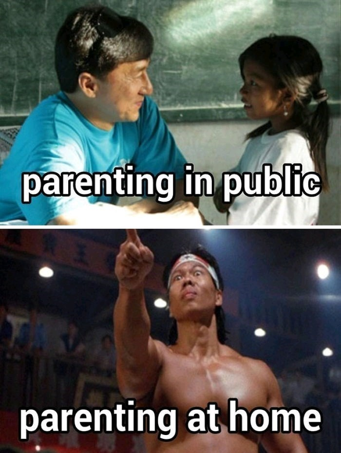 Photo caption - parenting in public parenting at home