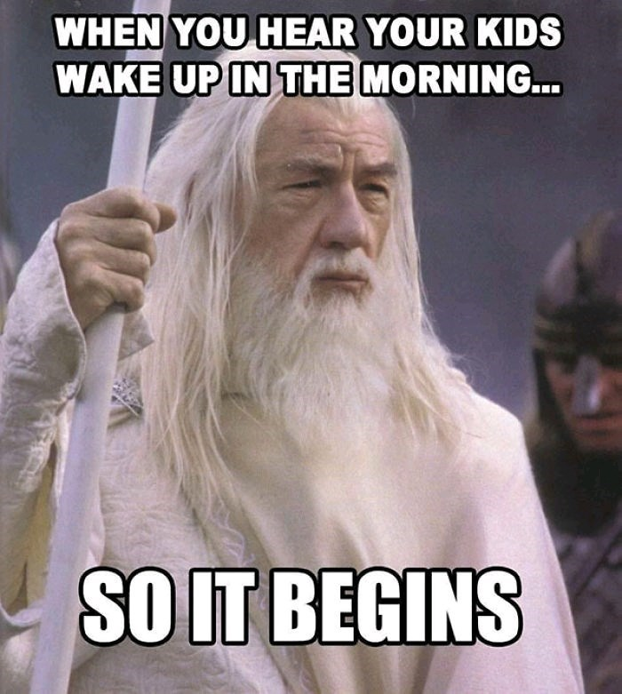 Facial hair - WHEN YOU HEAR YOUR KIDS WAKE UP IN THE MORNING.. SO IT BEGINS