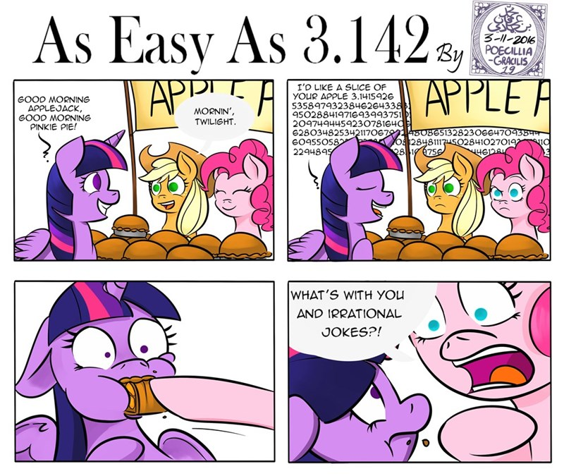 applejack twilight sparkle puns pinkie pie pi poecillia-gracilis19 comic - 9018135552
