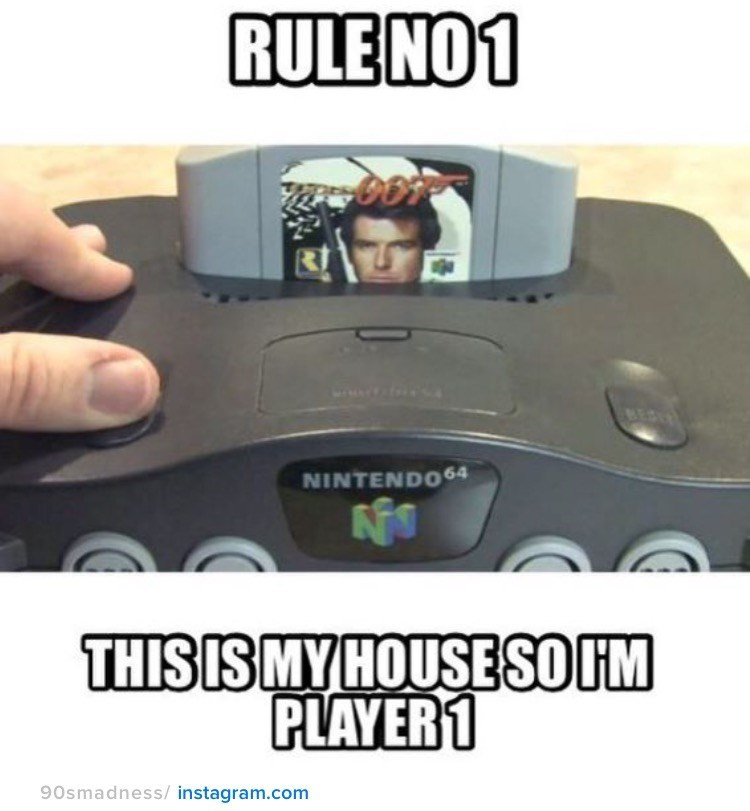 nostalgia - Gadget - RULE NO1 BESU NINTEND064 THISISMY HOUSESOIM PLAYER1 90smadness/instagram.com